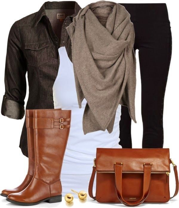 Stylish Outfit With Long Scarf With Long Boots