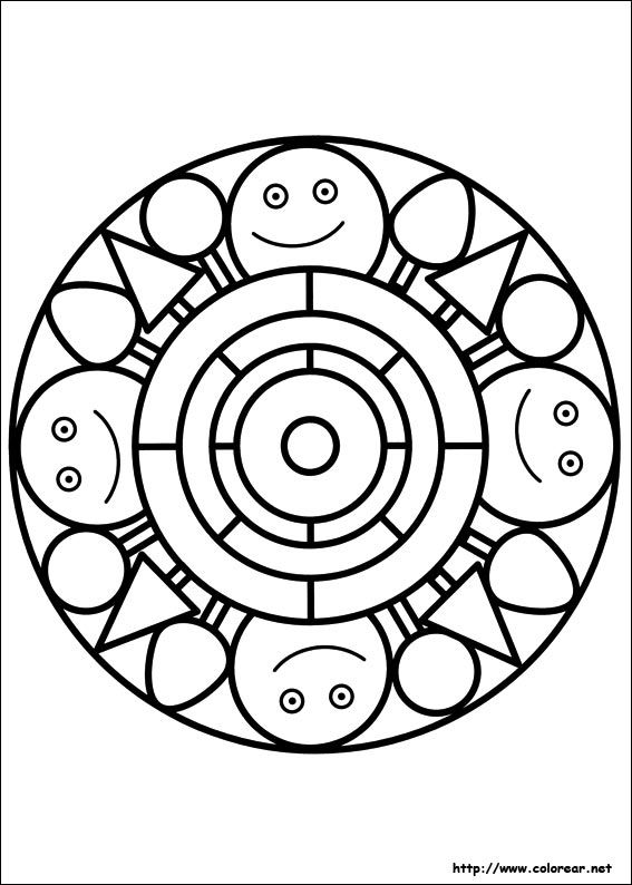 25 best images about Mandalas para niños on Pinterest Fun coloring