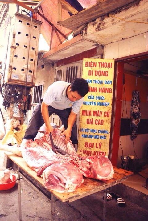 Meat cutter in Vietnam!