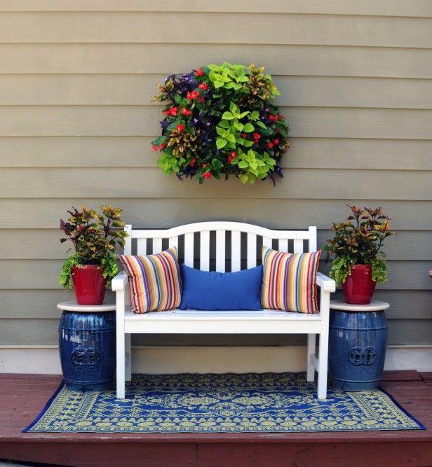 47 Cool Small Front Porch Design Ideas: Summer Porch Decor, Living Wall