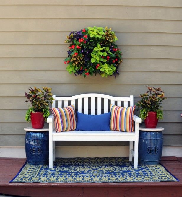 25 best ideas about front porch bench on pinterest for Narrow porch decorating ideas