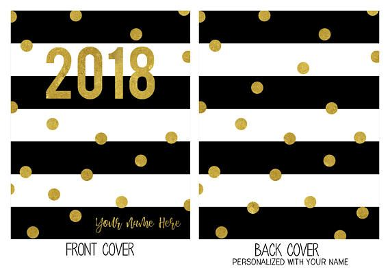 Personalized Planner Cover 2018 Choose Cover only or Cover