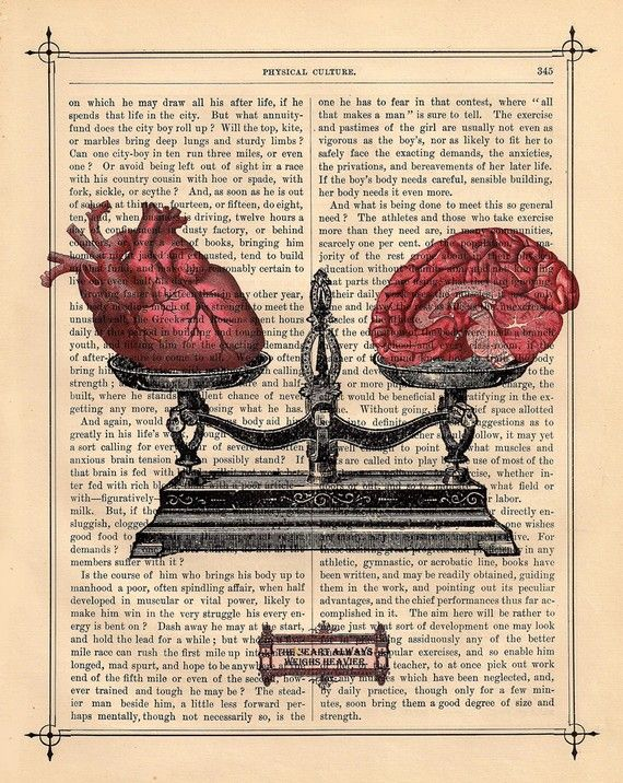 EQUILIBRIUM human HEART BRAIN on dictionary book by BlackBaroque