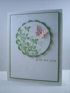 Soft green and pink, love it.  (Mother's Day Card with my young girl's?)