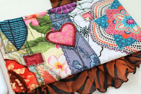 Marsupio di Collage borsa tessuto arte borsa a mano di SaidoniaEco