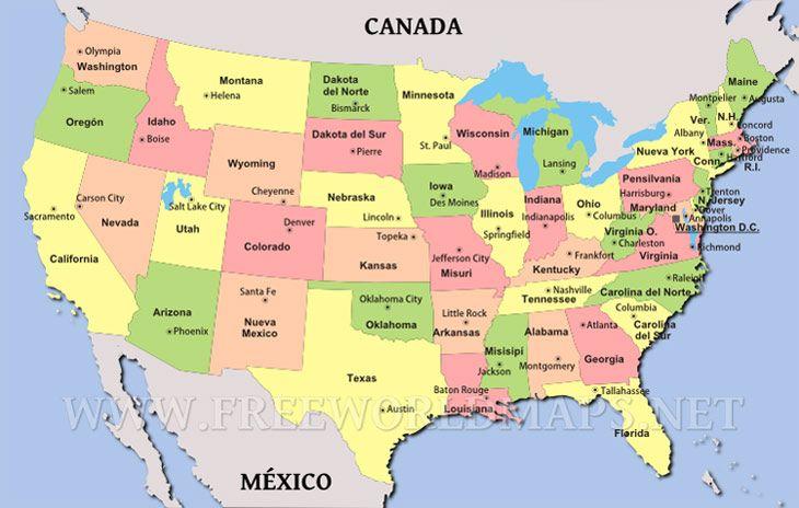 Mapa politico norteamerica - Imagui