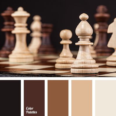 The restrained palette in the same key. The dark and pastel shades of brown and contrasting black and white. Brown - a symbol of the land. Therefore symbol.