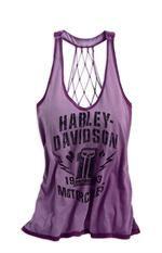 harley davidson womens purple tank top