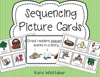 Sequencing Picture Cards ~ Scaffold the skill of story sequencing and retelling using picture cards.