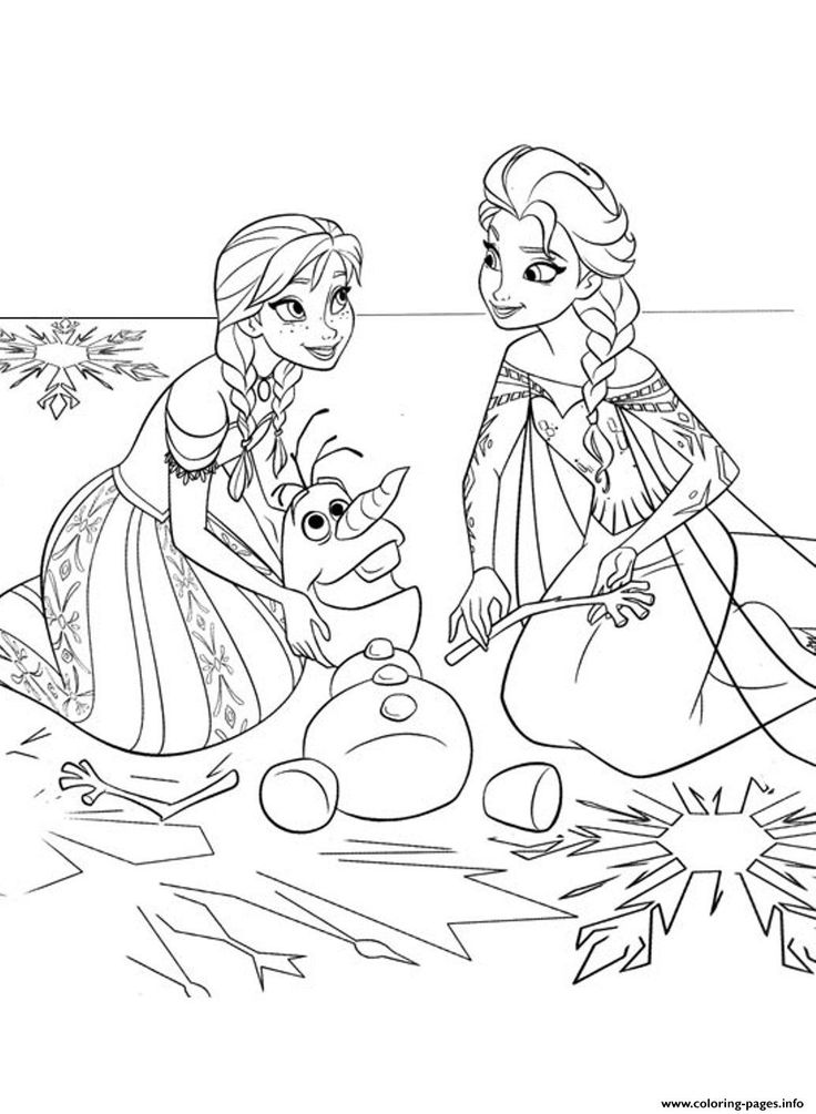 Print Frozen Sister550d Coloring Pages