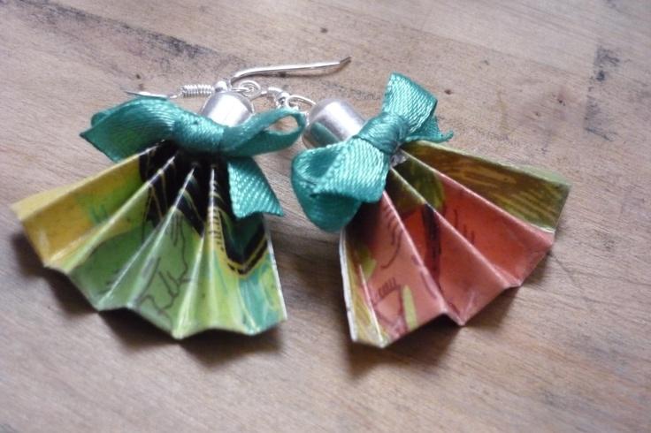 recycle paper earrings
