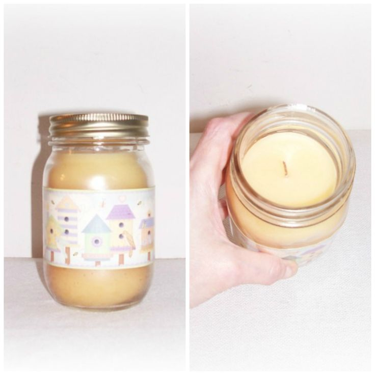 Spring candle jar canning jar candle vanilla jar candle home decor