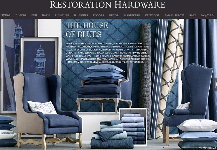 Restoration Hardware, one of the fastest growing luxury home furnishing brands is based is tech savvy CORTE MADERA, Calif.  With a new Spring 2012 Source Books available digitally and a Restoration Hardware iPad App.  Here is a Catalog Brand, missing the advantage of Twitter (it's an egg), Pinterest, and a fabulous Blog. Social Media Dear Gary, is cool...your Hollywood! Resto's parties, charity events, customer relations, and sales would sky rocket here.  Someone call me I  want this account...