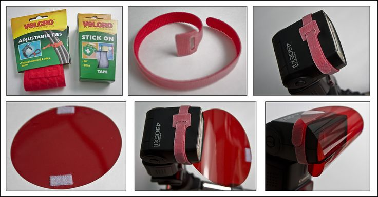 """Call me snobbish, but I didn't want to stick vecro tabs to my flashes, and blu-tak just wasn't up to the job. After a bit of searching around, I present...  """"My solution to putting gels on a flash""""  1) These are the fellas you need, velcro ties and some velcro stick-on tape  2) Velcro ties - essentially just double sided velcro, through the loop at the end is pretty useful (if a bit tricky - this stuff sticks to itself no problem)  3) Wrap a velcro tie around the head of your flash - my…"""