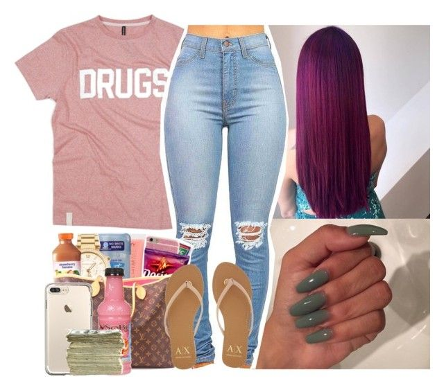 """Addict"" by saucinonyou999 ❤ liked on Polyvore featuring Armani Exchange and SEN"