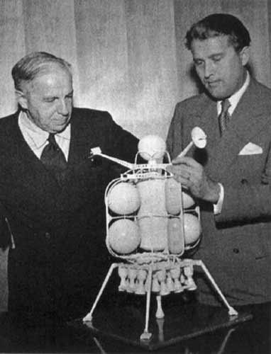 Chesley Bonestell and Wernher von Braun