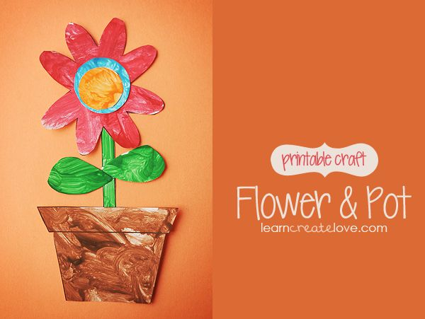 { Printable Flower & Pot Craft }