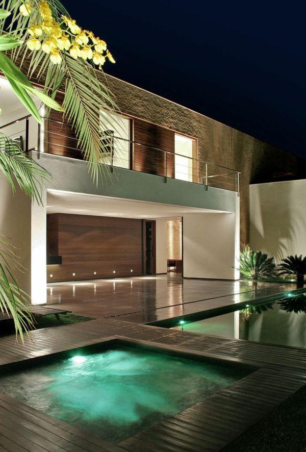 52 Best Images About Luxus Häuser On Pinterest | Modern Living ... Glastrennwand Innengarten Luxus Haus