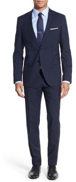 BOSS 'Rocco/Wyatt' Trim Fit Check Wool Suit