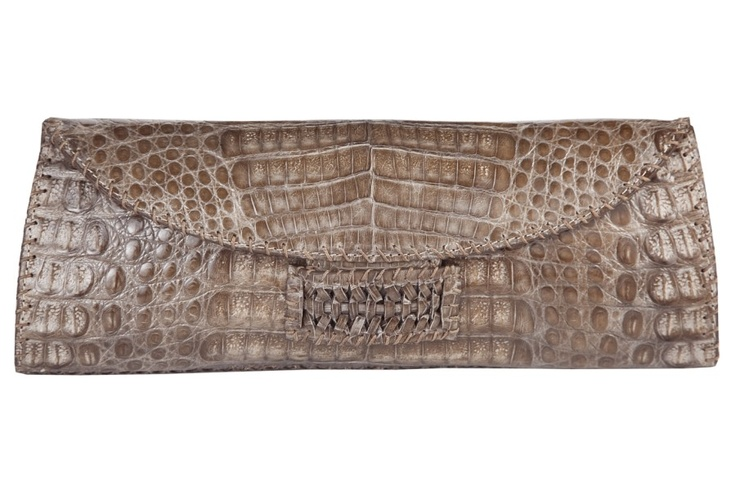 CASHHIMI | Perry clutch | Crocodile