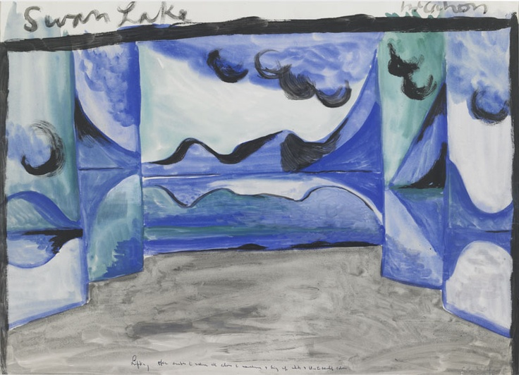 Created by: McCahon, Colin  Title: Swan Lake stage design 1.  Date: 1954  Location: Hocken Pictorial Collections - 72/151