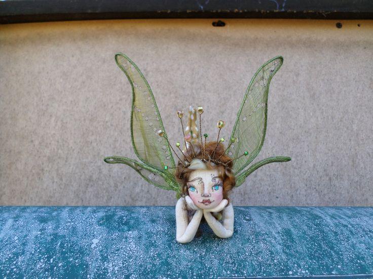 OOAK Fairy Art Doll - Lady Bronwyn Lenora Goldenrod - Flower Fairy Cloth Art Doll - Paula McGee Paula's Doll House by paulasdollhouse on Etsy