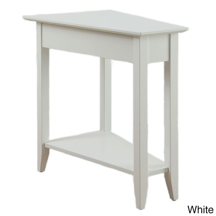 Convenience Concepts American Heritage Wedge End Table (White)