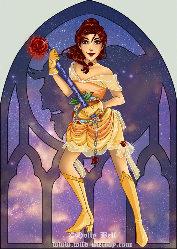 Belle [as Kingdom Hearts] (As Video Games by Holly-Bell @LiveJournal) #BeautyAndTheBeast #KingdomHearts
