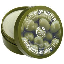 The Body Shop olive body butter.