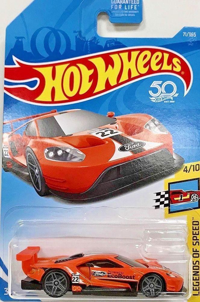 2018 Hot Wheels 2016 Ford Gt Race 71 365 Orange Legends Of