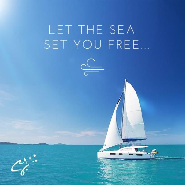 Nothing spells freedom like a boat out to sea.  #LoveWhitsundays #CharterYachtsAustralia #SeeAustralia #travel #sailing #water #thisisqueensland