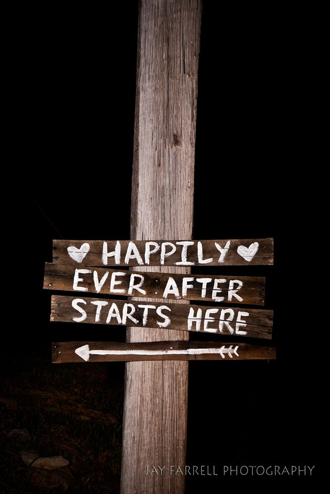 AWWW You could have fun signs from the main road all the way back to the wedding!