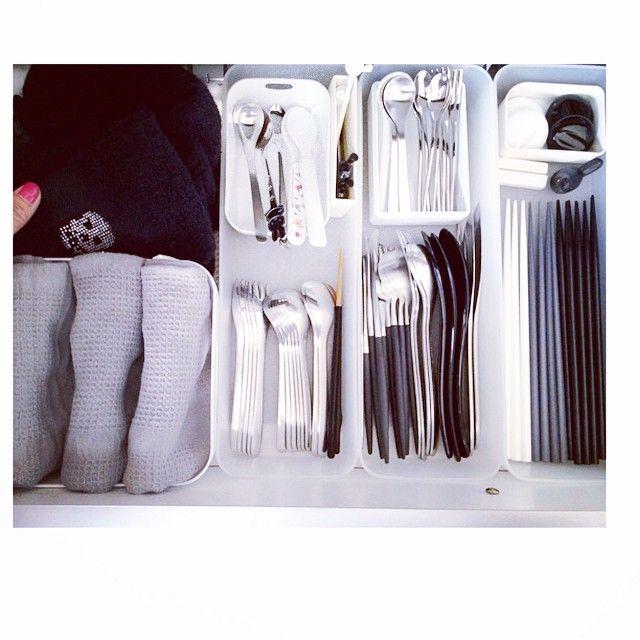 Instagram media by negimami06 - 我が家のカトラリー 少なめです(^^;; #クチポール と #柳宗理 を愛用してます。…