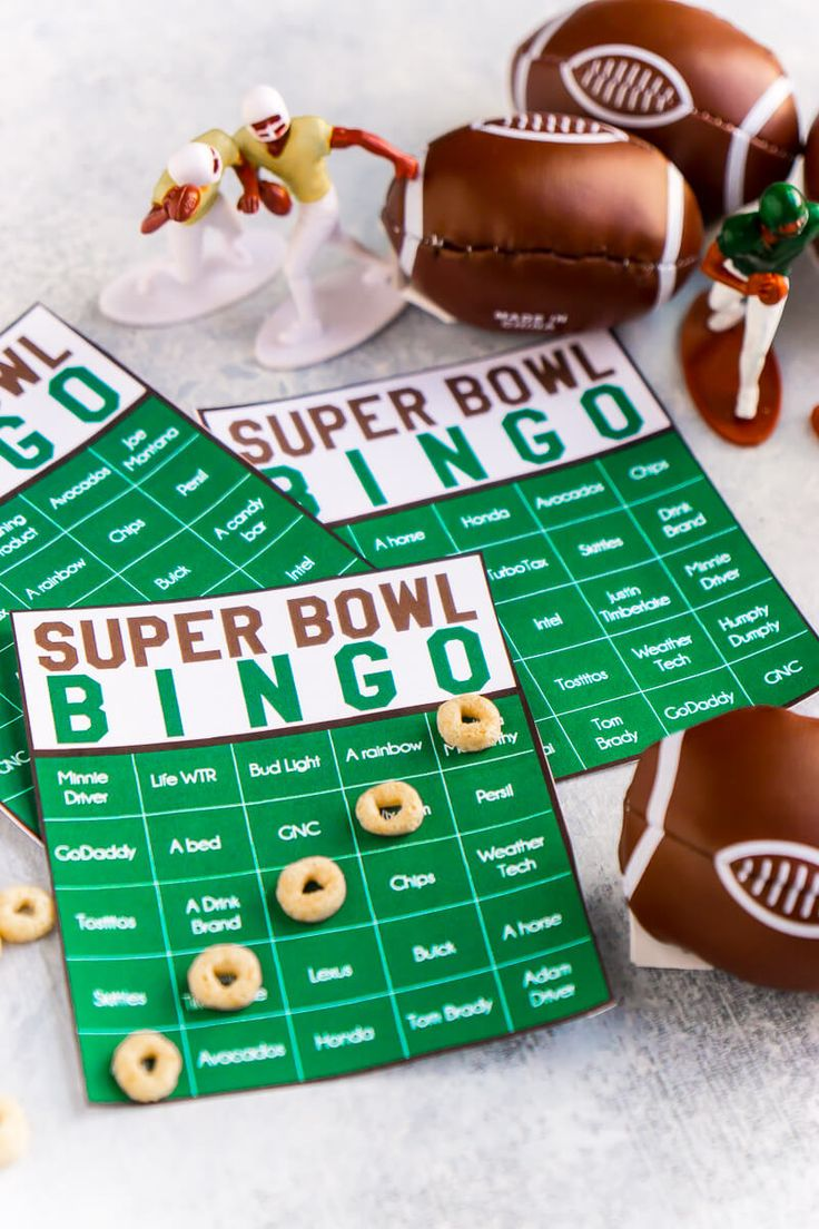 These free printable Super Bowl commercial bingo cards are perfect for kids and for adults! Definitely one of the most fun Super Bowl party games, we are for sure going to play this year! Tons of other Super Bowl party ideas too!