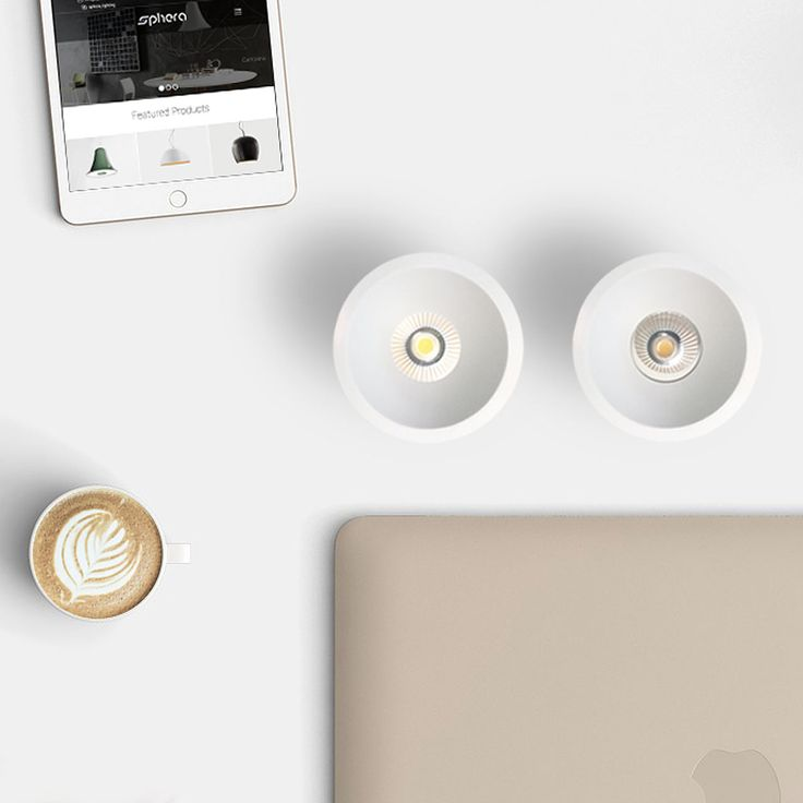 The newest additions to the family - Sphera Mattia fixed and adjustable Led downlight available in white, black and dimmable. #residentiallighting #retaillighting #lightingdesign #downlight #LED