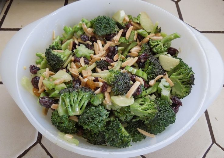 Broccoli Salad for All Blood Types Following Eat for Your Type Diet
