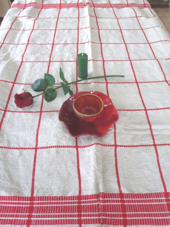 82. Vintage linen handloomed homespun pure flax linen hemp