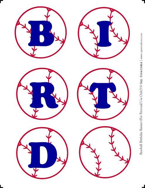 Happy Birthday Baseball Banner Printable