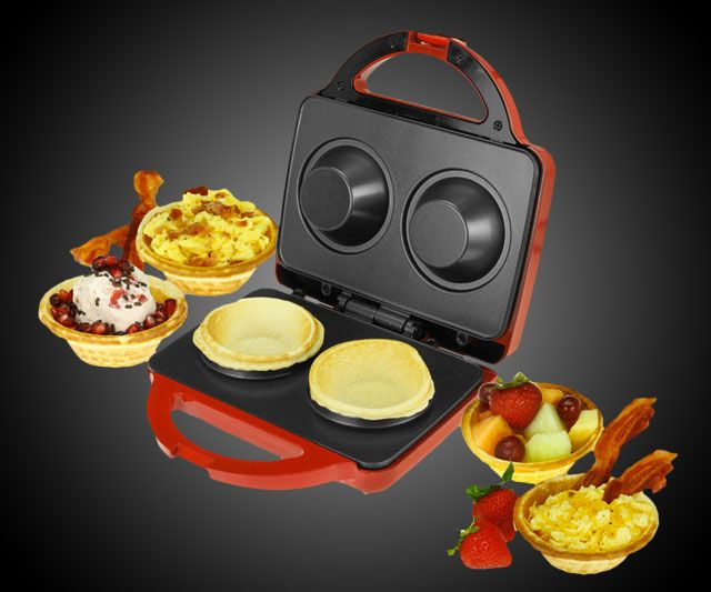 The best part about the Bella Waffle Bowl Maker--I mean aside from the fact that it's a glorious device from heaven that makes waffle bowls--is that it also makes...are you ready?...COOKIE BOWLS. Sometimes when I'm having a bag day and start to think the