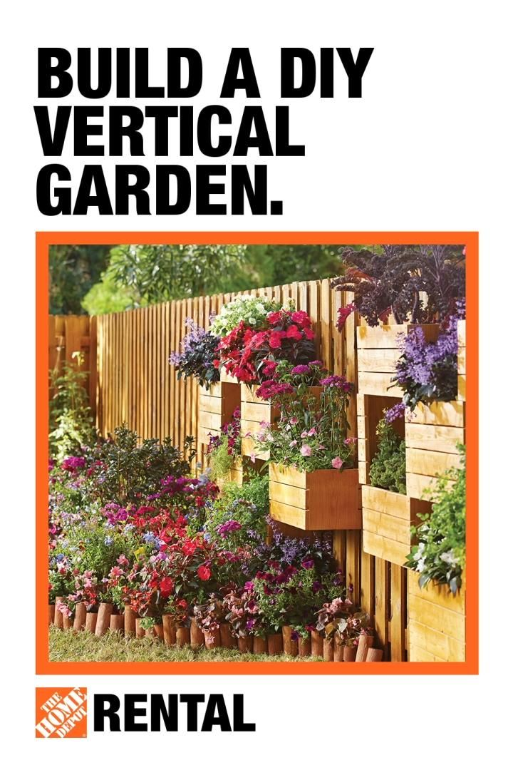 Maximize Your Outdoor Space With Diy Vertical Gardening Rent What You Need Video Vertical Garden Landscape Ideas Front Yard Curb Appeal Vertical Garden Diy