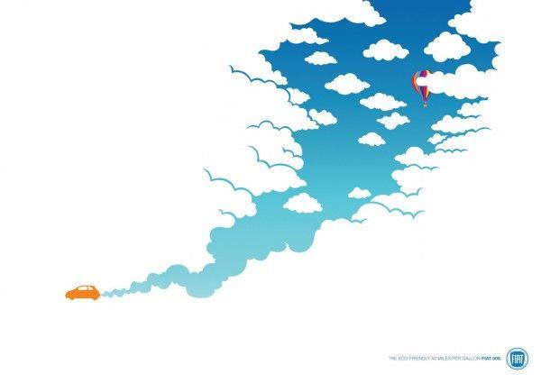キュートなイラストで語るFIAT500のエコ性能 | AdGang