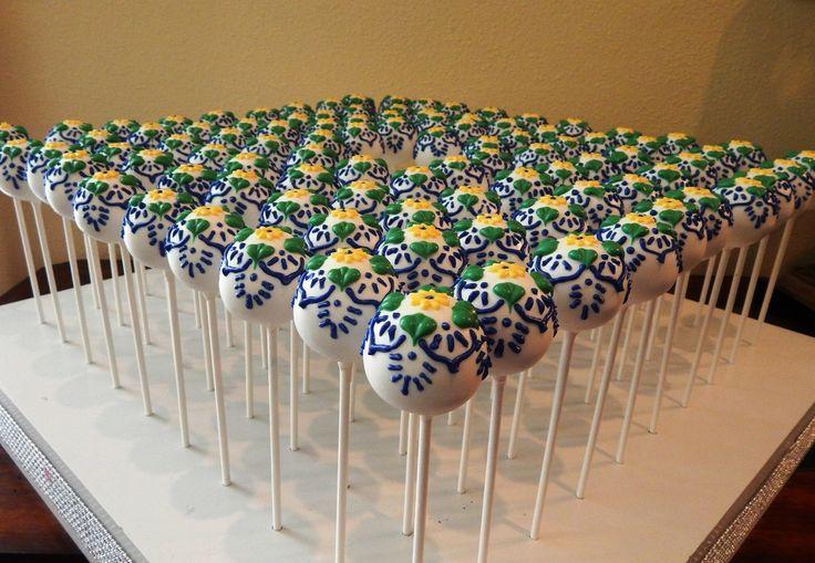 Spanish Tile Cake Pops