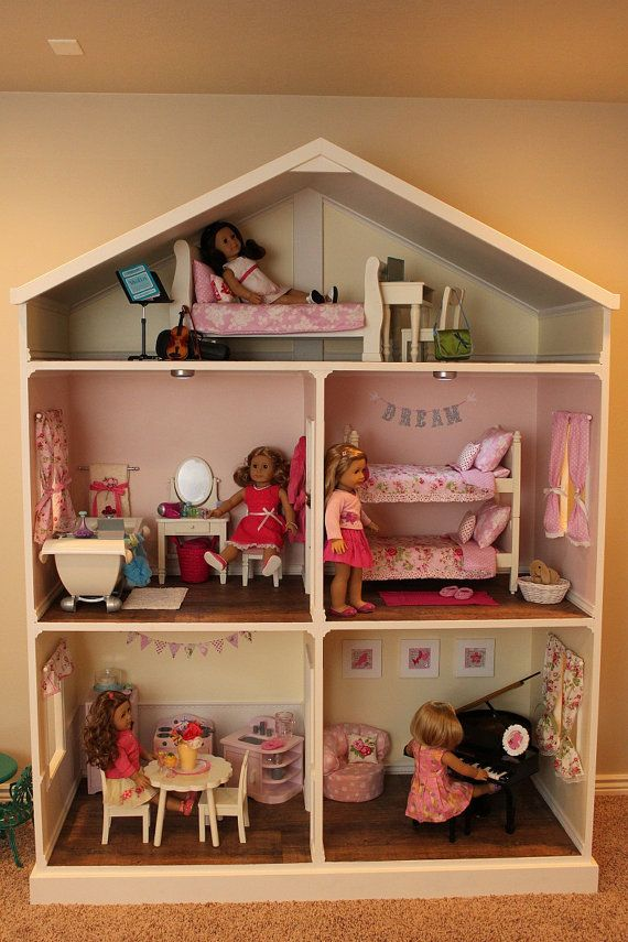 Doll House Plans for American Girl or 18 inch dolls - NOT ACTUAL HOUSE via Etsy