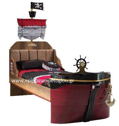 Παιδικό κρεβάτι καραβι Black Pirate 68404