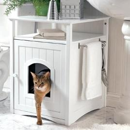 Kitty Washroom Cabinet - hide Zeus' potty! Much easier to look at