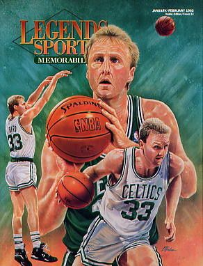 Legends Sports Memorabilia Magazine Jan/Feb 1993 Larry Bird Boston Celtics