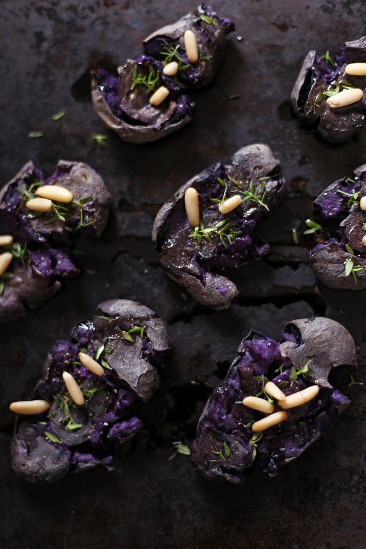 Smashed Purple Potatoes #vegan