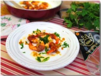 Shrimp with Parma ham