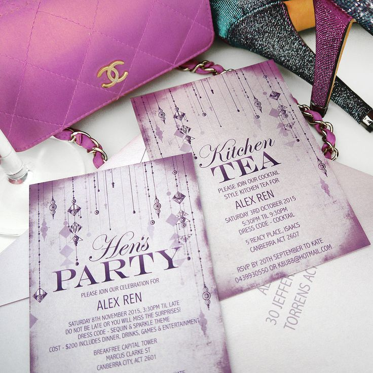 kitchen party invitation cards design. memento designs die cut