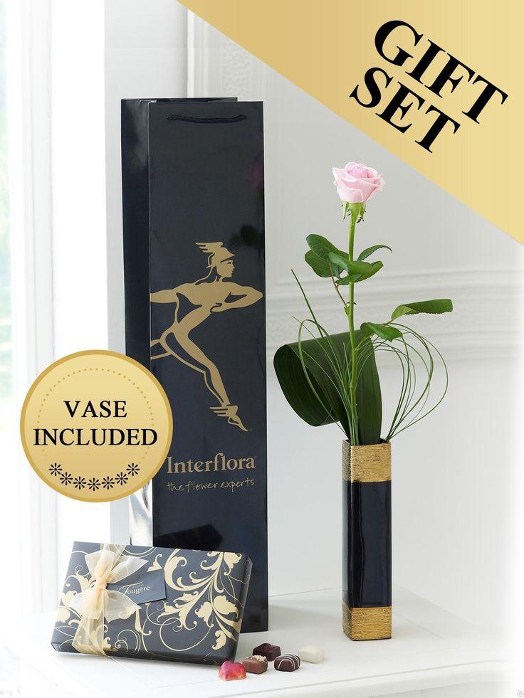 Single Pink Rose Gift Set €28.95